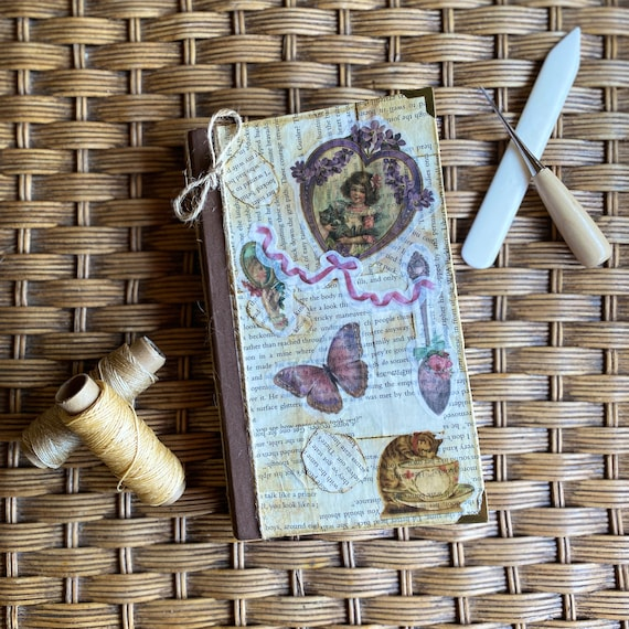 Handcrafted Teacup Cat Journal