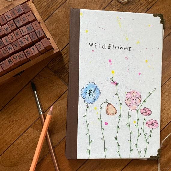 Wildflower-Handpainted Watercolor Journal