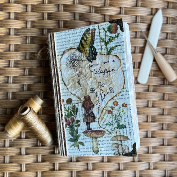 Handcrafted Alice the wildflower Journal