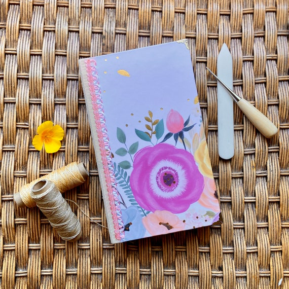 Handcrafted Rose Journal