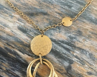 Vintage gold token necklace