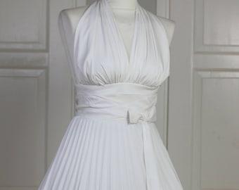 WEEKEND SALE Made to order  Marilyn Monroe white subway dress