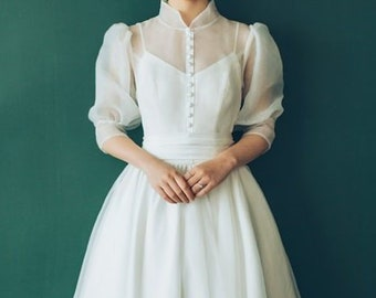2886b49ec61a High quality made to order Audrey Hepburn wedding dress 50's movie gown