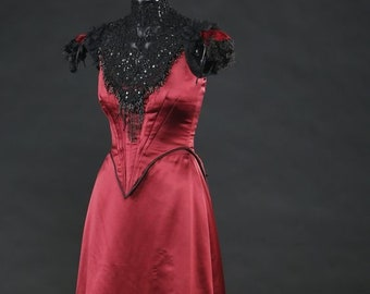 4d260db7bc9f3 Penny Dreadful Vanessa Ives Red Victorian Dress Gothic Vampire Wedding