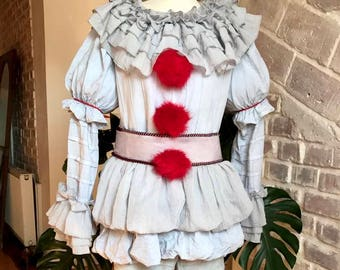 LIMITED Pennywise 2017 cosplay costume clown IT halloween