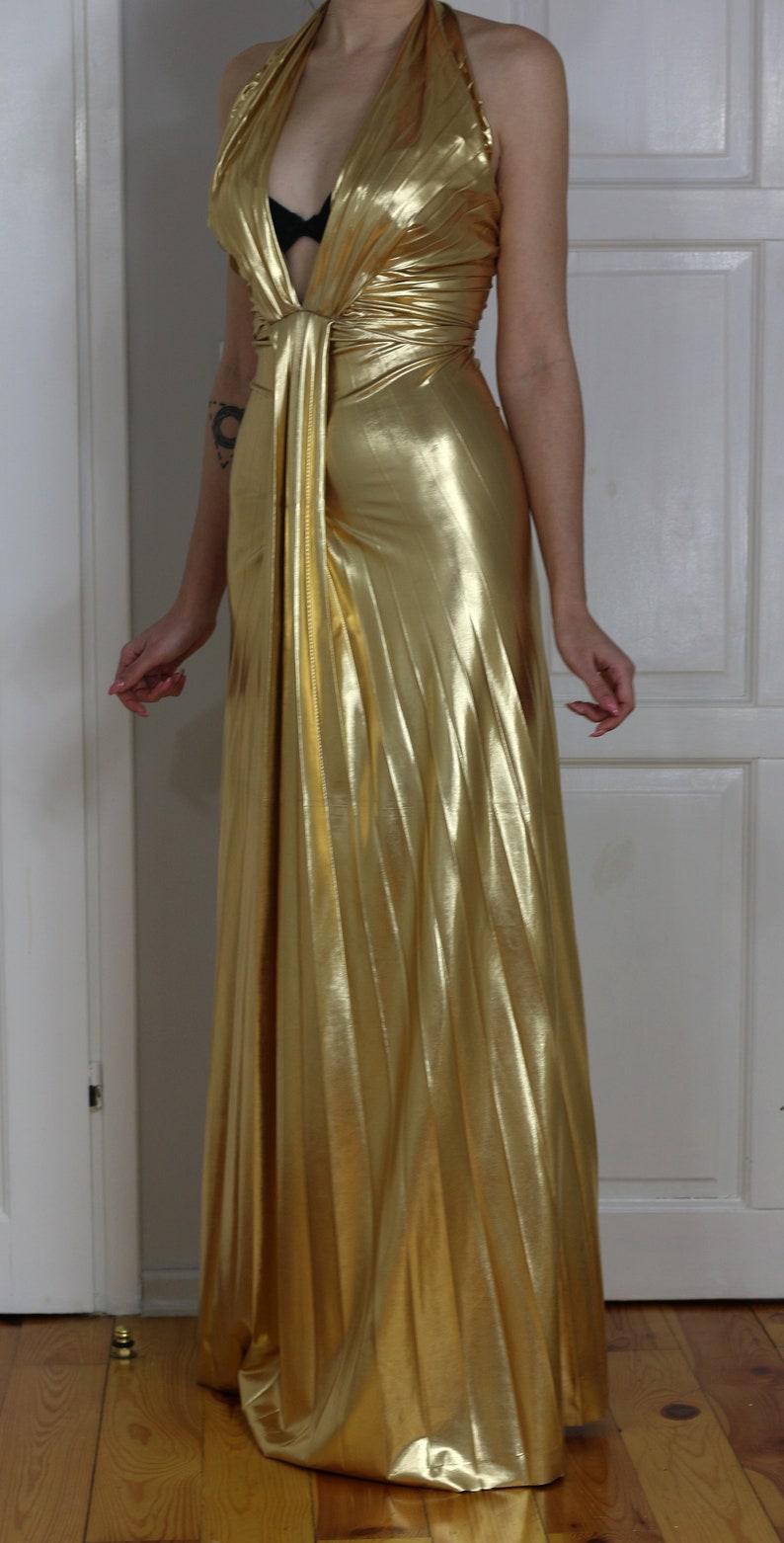 40006743654f0 Men Prefer Blondes Gold Dress gown replica Marilyn Monroe