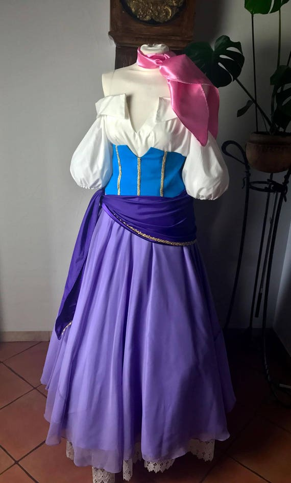 Esmeralda Cosplay Costume Adult The Hunchback Of Notre Dame Etsy