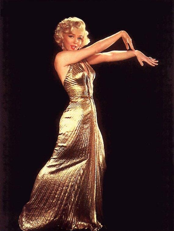 Men Prefer Blondes Gold Dress gown replica Marilyn Monroe   Etsy