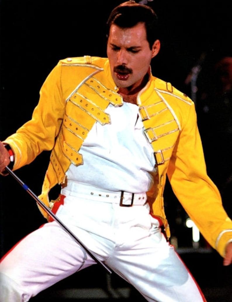 08587972c82 Freddie Mercury Yellow Jacket Costume Queen Made to Order