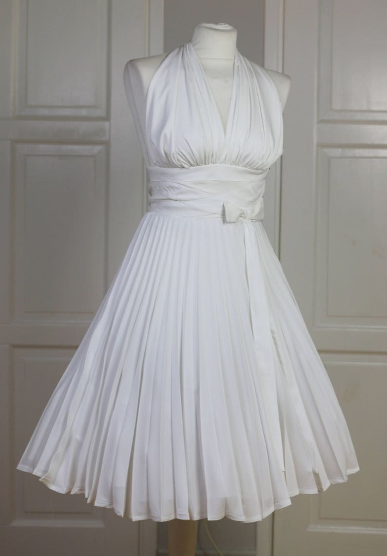 Made To Order Marilyn Monroe White Subway Dress