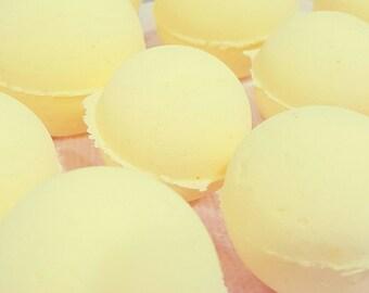 Buttery Vanilla Bath Bomb ~ Triple Moisturizing, Epsom Salt, Sweet, Gift, Mothers Day
