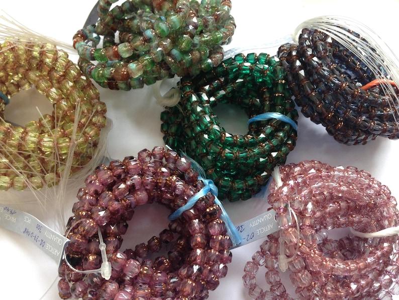 BNA173 50 x Purple Snap Chain Link Beads