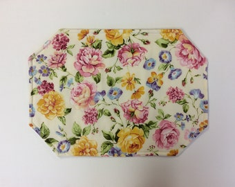 Reversible Placemats/Set Of 6/ English Garden/Only 1 Set Available!