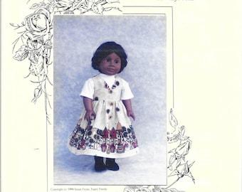 "Fancy Frocks -  Susan Payne - 18""/20"" Doll Jumper Dress w/Knit Top and Panties -  18"" doll size  pattern has ben cut, but unused"