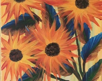 A Burst of Color - An Original Acrylic Painting by Wendy Margrave