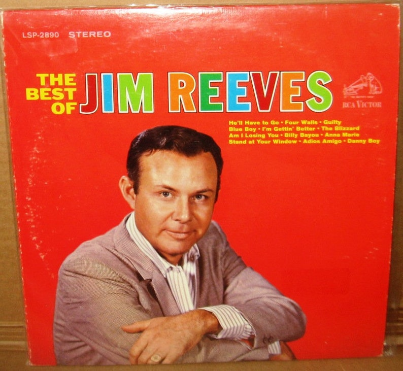 Vinyl LP Jim Reeves-The Best Of, lsp2890, includes original poster!!  Excellent condition FREE SHIPPING