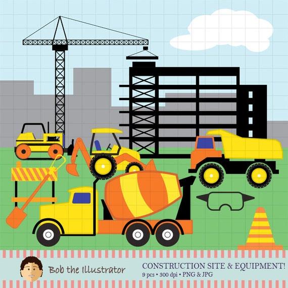 construction site digital clip art dump truck building etsy rh etsy com clip art sisters clip art stethoscope