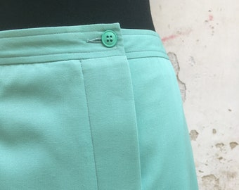 ac334f48cf Vintage 80s amazing skirt original Cacharel aquamarine cotton