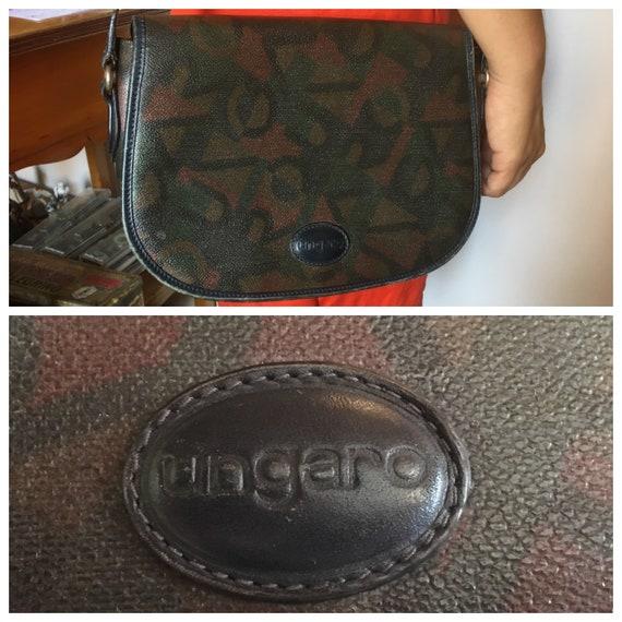 Vintage 1980s Ungaro original shoulder bag blue pa