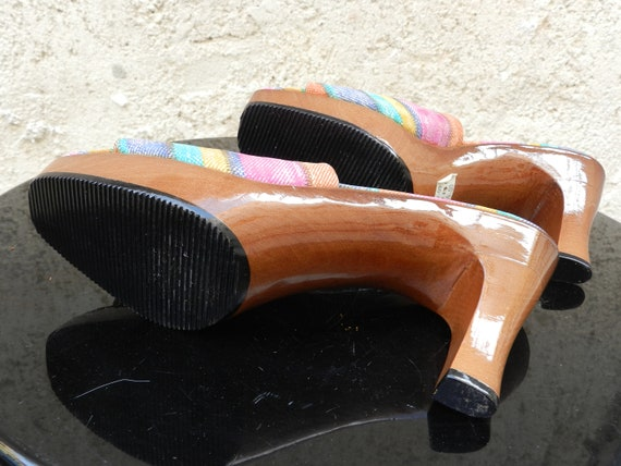 Vintage 90s colorful heel mules Stuart Weitzman - image 10