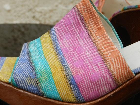 Vintage 90s colorful heel mules Stuart Weitzman - image 8