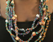 African Fabric Necklace...