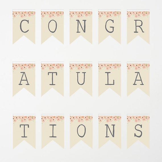 printable banner congratulations banner baby shower banner etsy