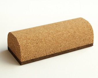 Lightweight Cork sanding block, sandpaper holder hand tool with rounded top