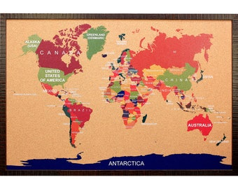 Adventure corkboard etsy cork world map travel corkboard gumiabroncs Image collections