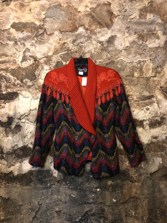 VINTAGE Abstract Colourful Coat