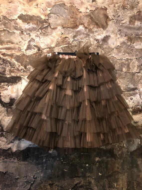VINTAGE Brown Tulle Petticoat