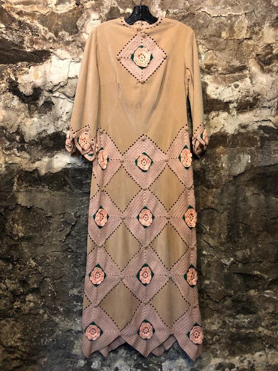 VINTAGE Crochet Handmade Dress