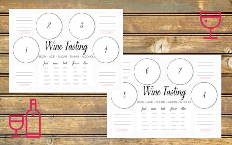 photograph about Wine Tasting Games Printable identify Wine Tasting Scorecard Printable