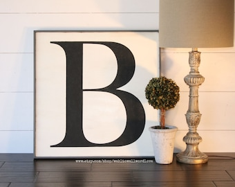 wood letter sign, large wooden letter, monogram, 24x24 letter, capital letter sign, alphabet art, uppercase letter, big letter, housewarming