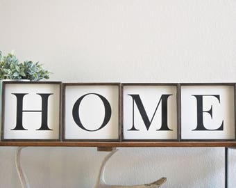 home capital letter wood signs wood home sign home wall art