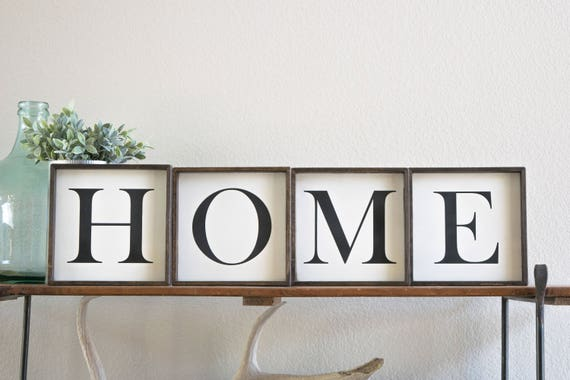 Home sign Home letters home wall art home wooden signs | Etsy