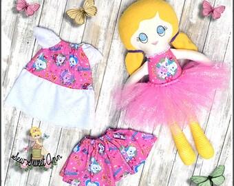 Dress up Doll - Rag Doll - Cloth Doll - Fabric Doll - Handmade Soft Doll