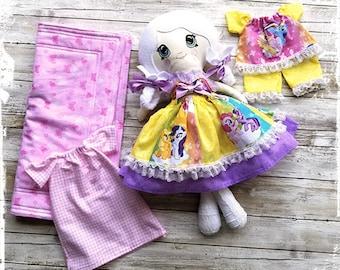 Dress up Rag doll / Fabric Doll / Cloth Doll / Handmade / Soft Rag Doll / Pretend Play