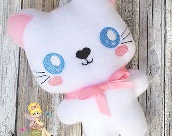 Stuffie - Kawaii Plush - Kitty Cat Plush - Softie - Toddler Toy - Soft Stuffed Animal - cloth toy