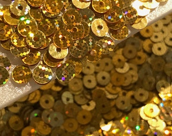 Sequins Tiny 4mm Topaz Brown Metallic Round Flat Choose Pack Size