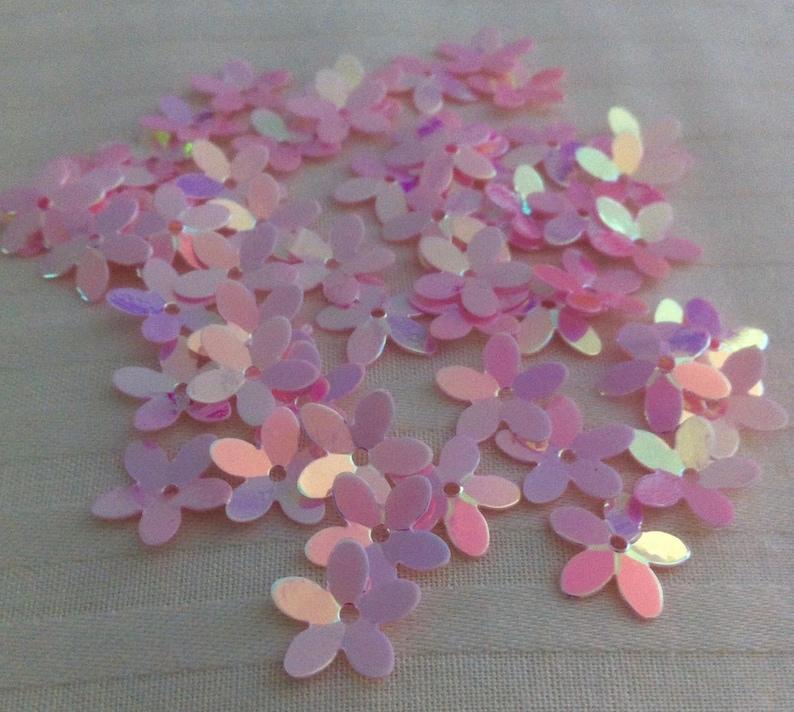 Flower Sequins Amethyst Purple AB Mix Hi Shine 10mm Cup x 100