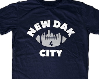 09484a7e5 Dak Prescott 'New Dak City' Dallas Football T shirt