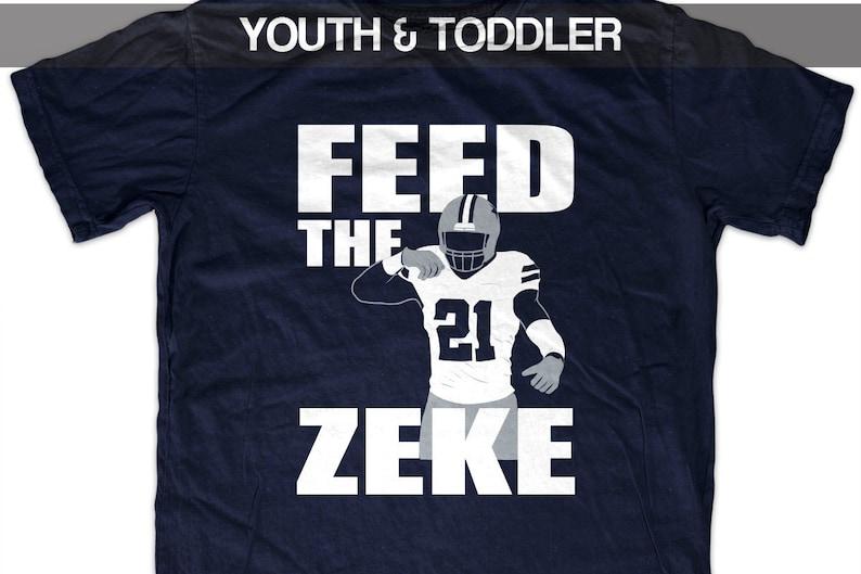 best service 0f154 81719 Ezekiel Elliott 'Feed the Zeke' T shirt (Youth)