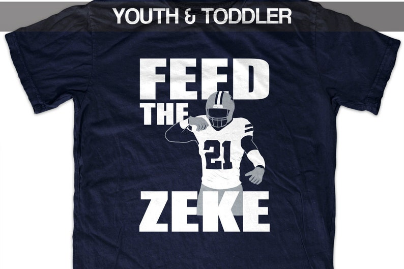 56e8524b9 Ezekiel Elliott  Feed the Zeke  T shirt Youth