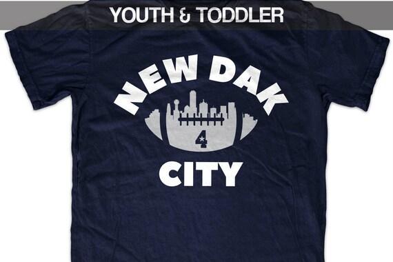 best loved 9c733 51d80 Dak Prescott 'New Dak City' Dallas Football T shirt (Youth)