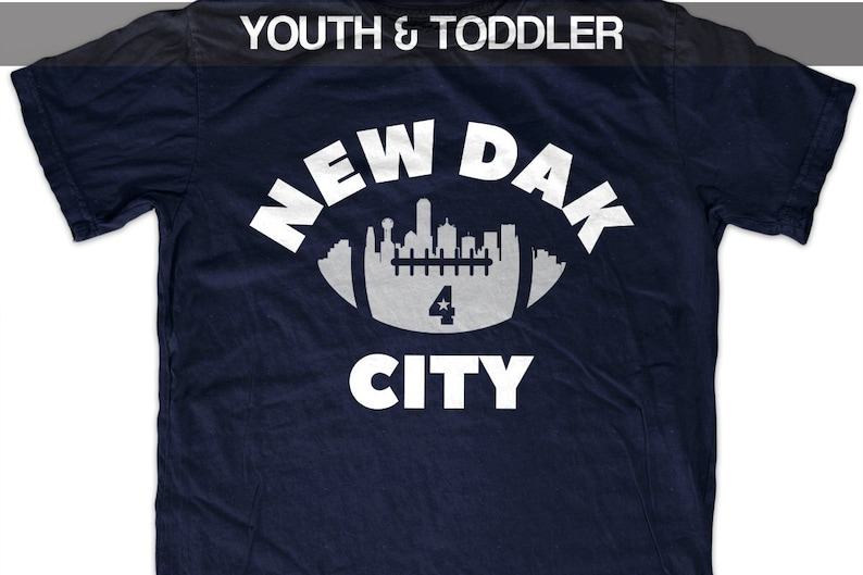 best loved 72dd6 30424 Dak Prescott 'New Dak City' Dallas Football T shirt (Youth)