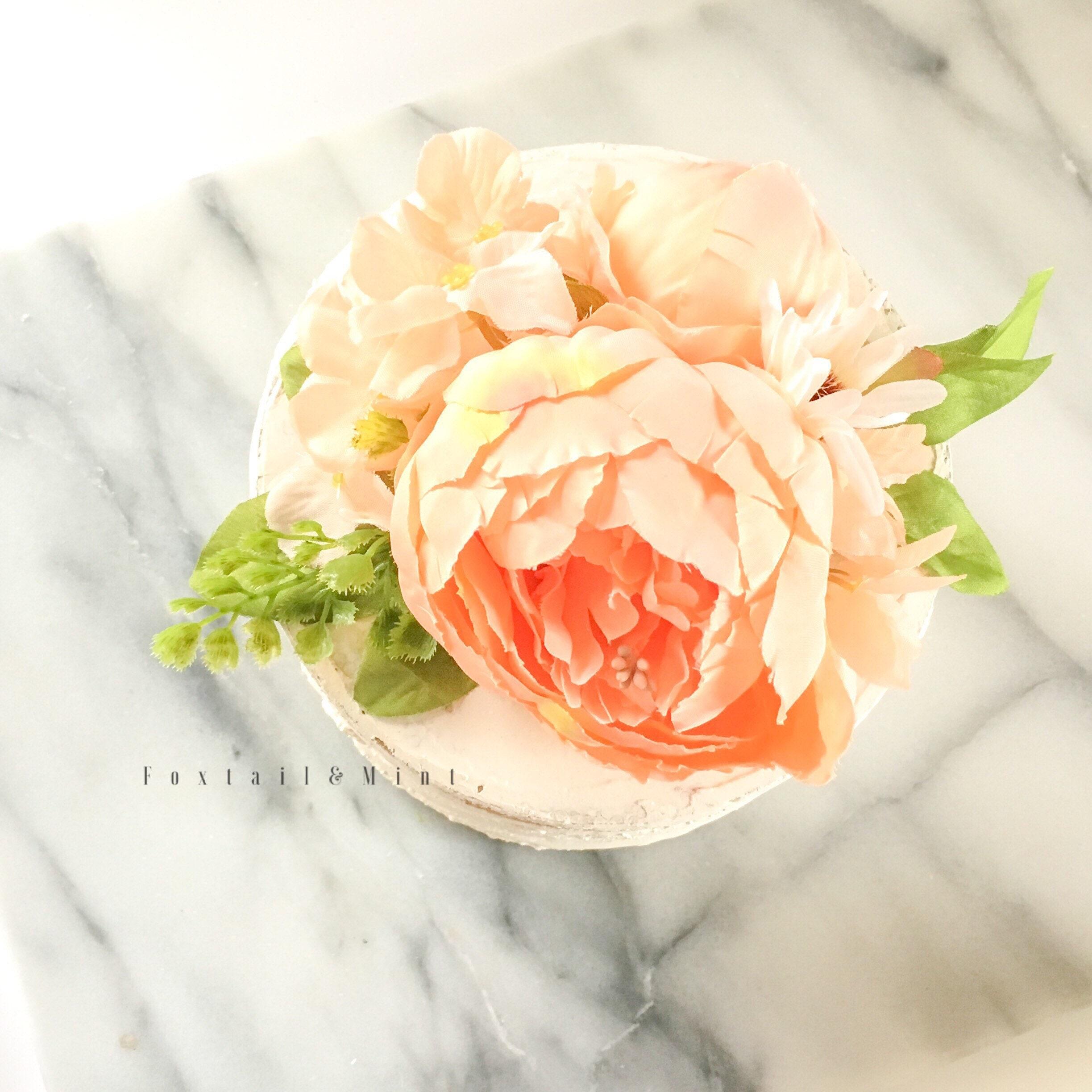 Cake Topper // Peony Cake Topper // Wedding Cake Topper // Flower ...