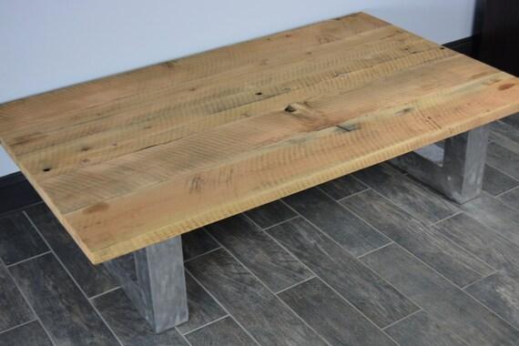 pieds boisTable en brossérécupéré Table en aluminium bois basse récupéré rustique avec j53ARLc4qS