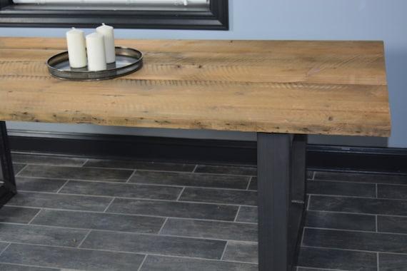 Finca rústica mesa con patas de acero mesa de la cocina mesa | Etsy