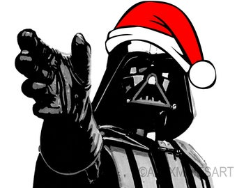 Star Wars Geeky Christmas Card Darth Vader Presents